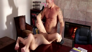 Sara Luvv as well as Marcus London rough handjob