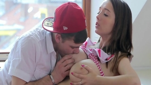 Young Busty Buffy reverse cowgirl doggy sex