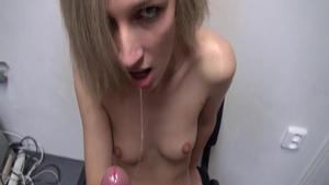 Hot young czech babe dick sucking at casting
