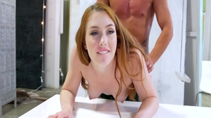 Hottest french redhead receives anal pov sex
