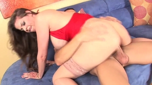 Huge boobs June Summers cumshot in sexy lingerie