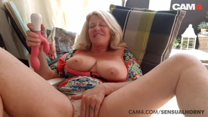 Huge tits dutch cougar sex with toys