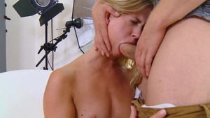 Young blonde hair Violette Pure hardcore ass fucking creampied