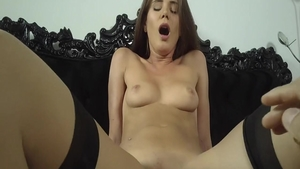 Naughty babe Little Caprice raw pussy fuck