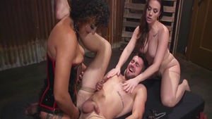 Daisy Ducati amongst Chanel Preston fetish reverse cowgirl