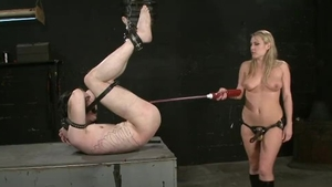 Harmony Rose in rough fetish pegging