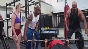 Prince Yahshua and Chloe Temple gangbang at the gym