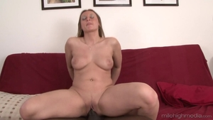 Stiff brunette raw interracial bang