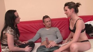 Young french first time threesome