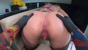 Amazing & big tits Ines Ventura anal interracial