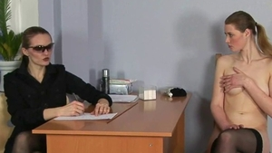 Submissive russian BDSM at the audition