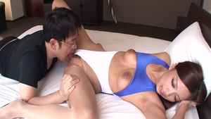 Wild asian babe helps with hard sex in HD