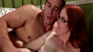 Romantic hard ramming along with very hot redhead Penny Pax