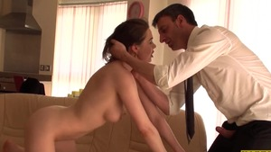Spanking escorted by french brunette Tina Kay