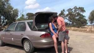 Creampied outdoors large boobs australian HD