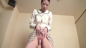 Ramming hard in company with shaved japanese girl
