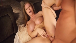 Lena Paul escorted by Johnny Castle art pussy drilling