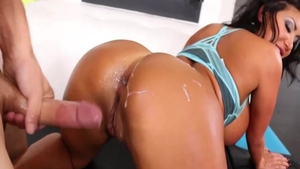 Asian August Taylor anal interracial in HD