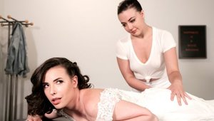 Masturbating in company with big ass brunette Whitney Wright