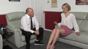 Blonde hair fetish spanking