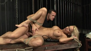 Bound escorted by horny MILF