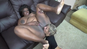Nailed rough with huge tits ebony blonde haired