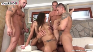 Inked Mea Melone double penetration ass fucking