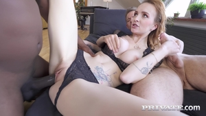 Inked extreme anal interracial
