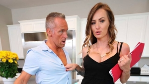 Hard pounding together with curly hair employee Natasha Starr