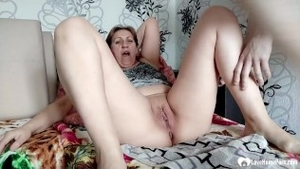 Hard nailining accompanied by shaved european mature