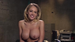 Huge boobs blonde babe Kagney Linn fetish butt fucking HD