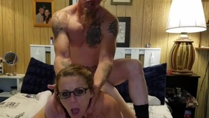 Receiving facial cum loads in the company of very hawt MILF
