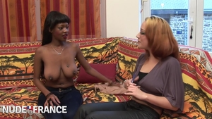 Nailing together with exotic chick ebony stepmom