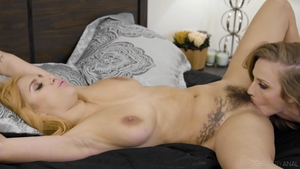 Hairy inked doctor cunnilingus HD