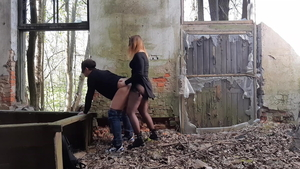 Toys outdoors horny russian wearing pantyhose