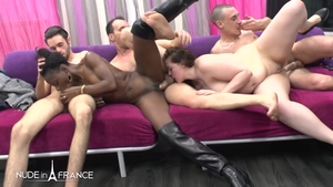 Anal interracial together with nude ebony brunette