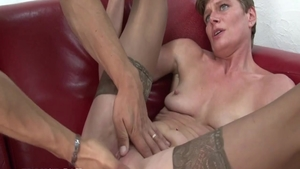 Passionate french MILF pussy fuck