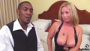 Naughty large tits MILF POV creampie at castings in HD