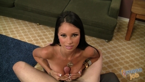 POV raw fucking with brunette Raven Bay