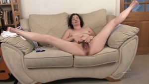 Hairy brunette rammed hard after interview in HD