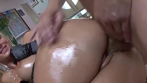 Oiled raw sex alongside Phoenix Marie