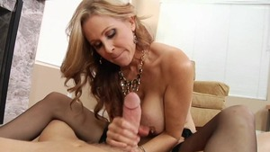 Julia Ann with Mark Wood POV tits fucking in the woods