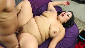 Ramming hard along with big boobs BBW Beverly Hills HD
