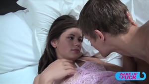 Flat chest Little Caprice fucks in the ass