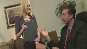 Seduced in office starring big boobs young deutsch blonde babe