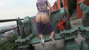 Ass pounding in public with very hot babe Naughty Lada