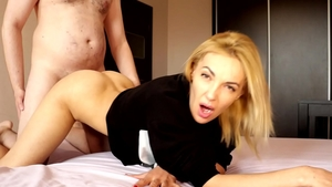 Receiving facial accompanied by hottest russian slut