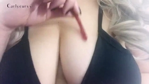 Solo busty and tight amateur masturbation