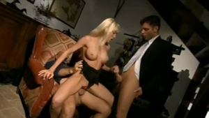 Creampie accompanied by tight housewife