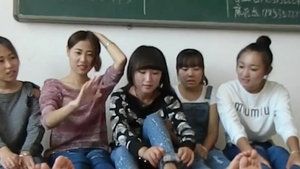 Chinese college girl foot fetish